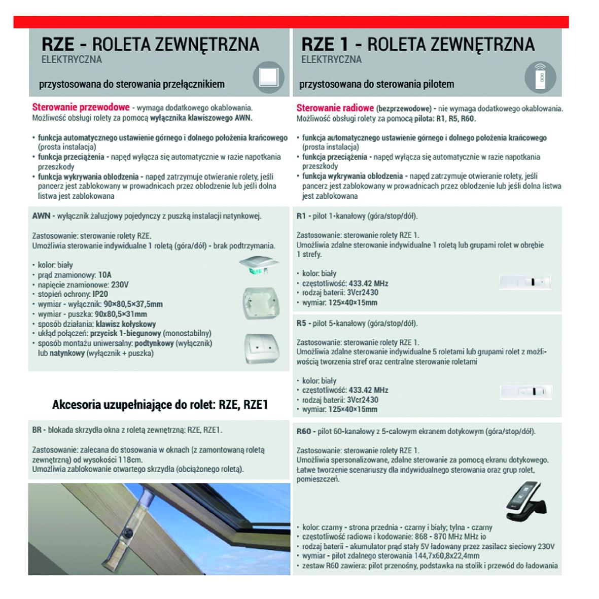 Roleta-zewnetrzna1 Roleta zewnętrzna RZE / RZE 1