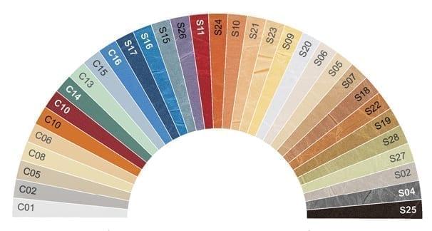 Wzornik kolorów - plisowanka