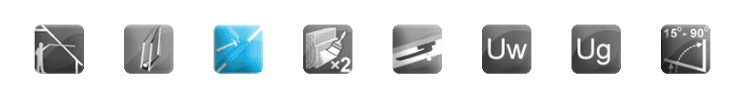 roterande fönster - 2szyby - BioClean - trä - hantera - vinkel