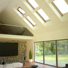 okna dachowe elektrycznie sterowane