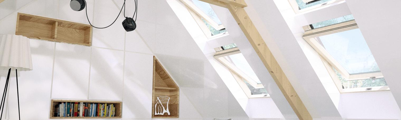 okna dachowe w sypialni