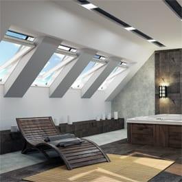 aranżacja-IGO-E3 Jakie dachowe okno obrotowe wybrać - drewniane czy PVC?