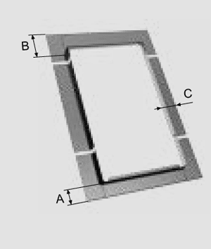 KOLNIERZ_R_wymiary-a-b-c Do pokryć na rąbek stojący R